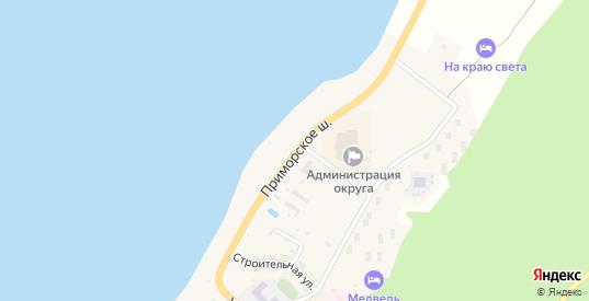 Улица Приморское шоссе в Курильске с номерами домов на карте. Спутник и схема онлайн