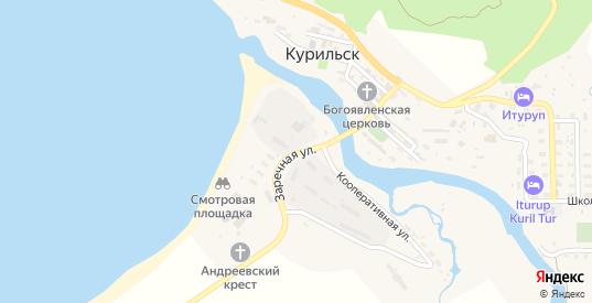 Заречная улица в Курильске с номерами домов на карте. Спутник и схема онлайн