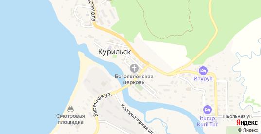Курильская улица в Курильске с номерами домов на карте. Спутник и схема онлайн