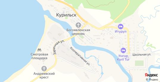 Строительный переулок в Курильске с номерами домов на карте. Спутник и схема онлайн