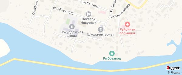 Советская улица на карте поселка Чокурдаха Якутии с номерами домов