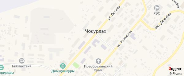 Улица им Ленина на карте поселка Чокурдаха Якутии с номерами домов