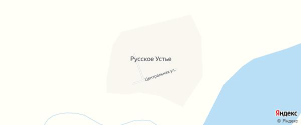 Карта села Русского Устья в Якутии с улицами и номерами домов