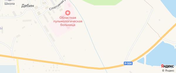 Речная улица на карте поселка Дебина Магаданской области с номерами домов