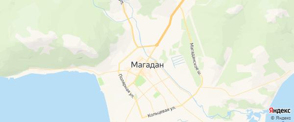 Карта Магадана с районами, улицами и номерами домов