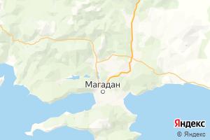 Карта г. Магадан Магаданская область
