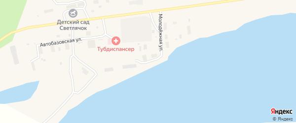 Юкагирская улица на карте поселка Зырянки Якутии с номерами домов