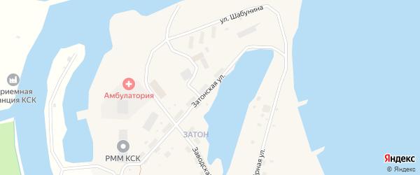 Затонская улица на карте поселка Зырянки Якутии с номерами домов
