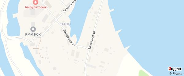 Заозерная улица на карте поселка Зырянки Якутии с номерами домов