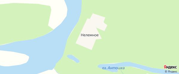Карта Нелемного села в Якутии с улицами и номерами домов
