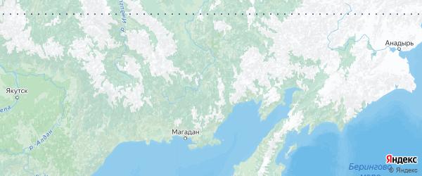 Карта Магаданской области с городами и районами