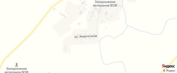 Улица Энергетиков на карте села Соболево Камчатского края с номерами домов