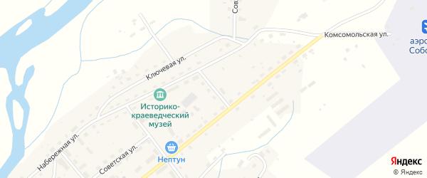 Совхозный переулок на карте села Соболево Камчатского края с номерами домов
