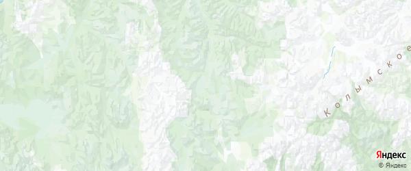 Карта Омсукчанского района Магаданской области с городами и населенными пунктами