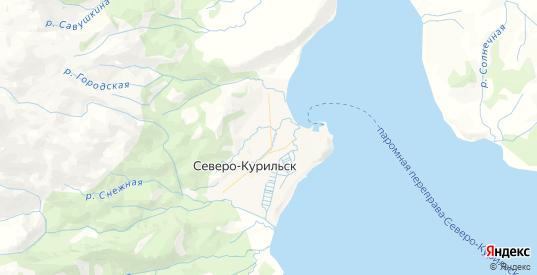 Карта Северо-Курильска с улицами и домами подробная. Показать со спутника номера домов онлайн