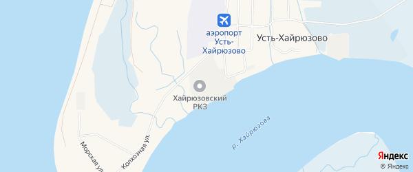 Карта села Усть-Хайрюзово в Камчатском крае с улицами и номерами домов
