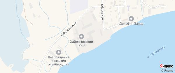 Заречная улица на карте села Усть-Хайрюзово Камчатского края с номерами домов