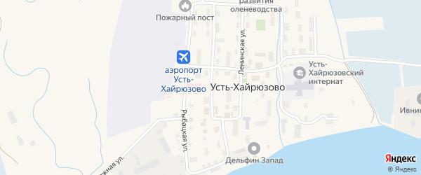 Советская улица на карте села Усть-Хайрюзово Камчатского края с номерами домов