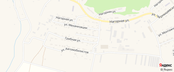 Профсоюзная улица на карте Елизово с номерами домов