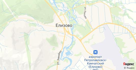 Карта Елизово с улицами и домами подробная. Показать со спутника номера домов онлайн