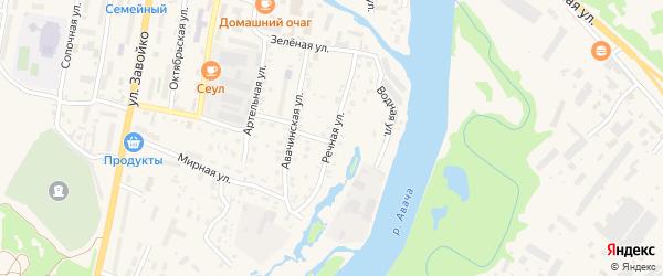 Речная улица на карте Елизово с номерами домов