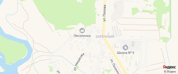 Безымянная улица на карте Елизово с номерами домов