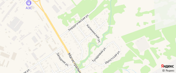 Мутной переулок на карте Елизово с номерами домов