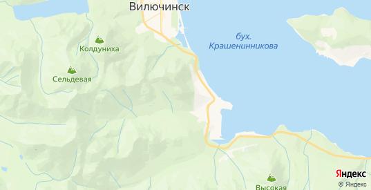 Карта Вилючинска с улицами и домами подробная. Показать со спутника номера домов онлайн