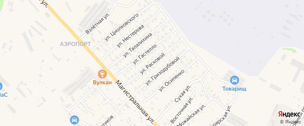 Улица Расковой на карте Елизово с номерами домов