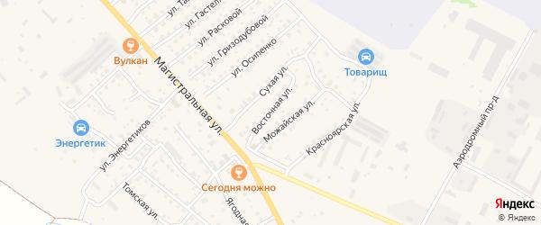 Восточная улица на карте Елизово с номерами домов