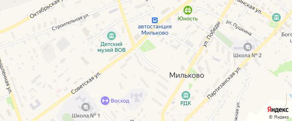 Проспект Космонавтов на карте села Мильково Камчатского края с номерами домов