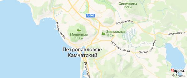 Карта Петропавловска-Камчатского с районами, улицами и номерами домов