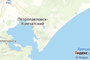 Карта г. Петропавловск-Камчатский Камчатский край