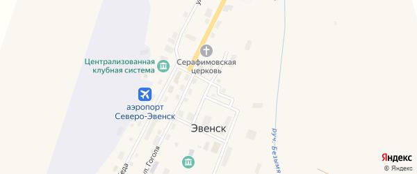 Улица Курилова на карте поселка Эвенска Магаданской области с номерами домов