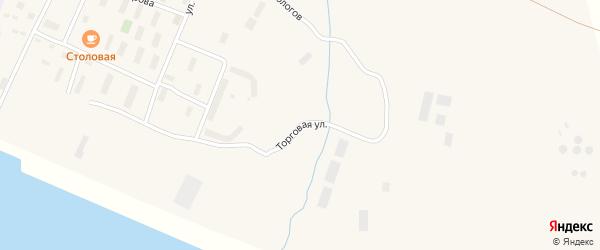 Торговая улица на карте поселка Эвенска Магаданской области с номерами домов