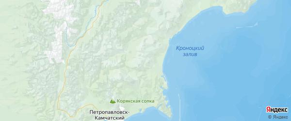 Карта Елизовского района Камчатского края с городами и населенными пунктами