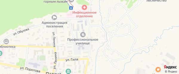 Улица имени Г.И.Чубарова на карте поселка Палана Камчатского края с номерами домов
