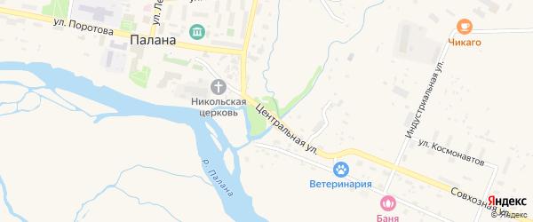 Центральная улица на карте поселка Палана Камчатского края с номерами домов