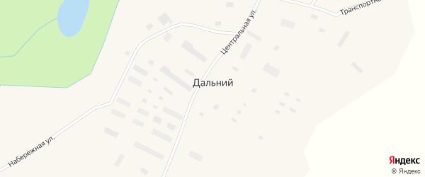 Центральная улица на карте Дальнего поселка Чукотского автономного округа с номерами домов