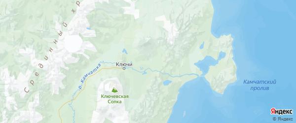 Карта Усть-камчатского района Камчатского края с городами и населенными пунктами