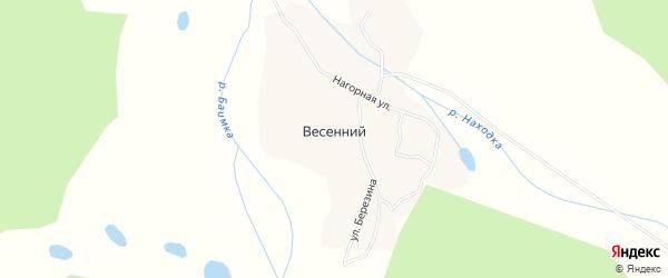 Карта Весеннего поселка в Чукотском автономном округе с улицами и номерами домов