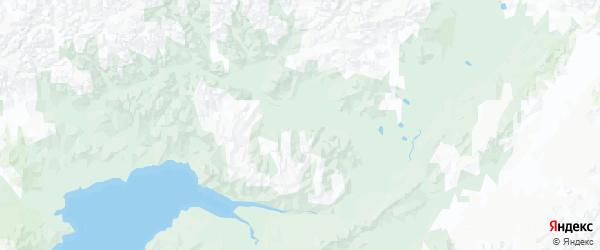 Карта Пенжинского района Камчатского края с городами и населенными пунктами