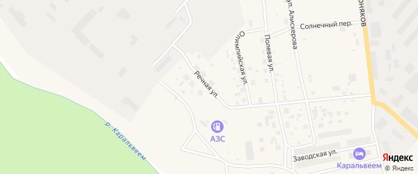 Речная улица на карте Билибино с номерами домов