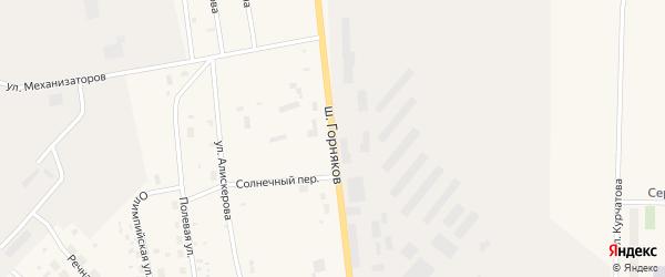 Шоссе Горняков на карте Билибино с номерами домов