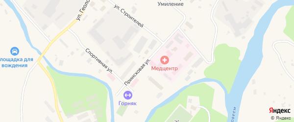 Приисковая улица на карте Билибино с номерами домов