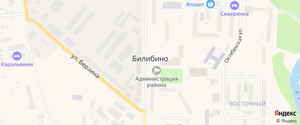 Фруктовая улица на карте Билибино с номерами домов