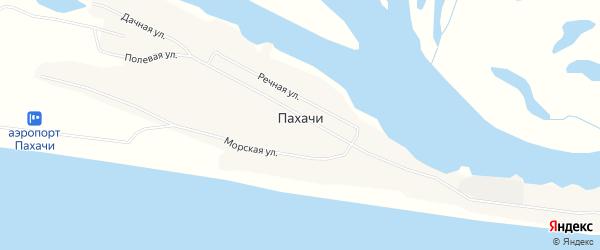 Карта села Пахачи в Камчатском крае с улицами и номерами домов