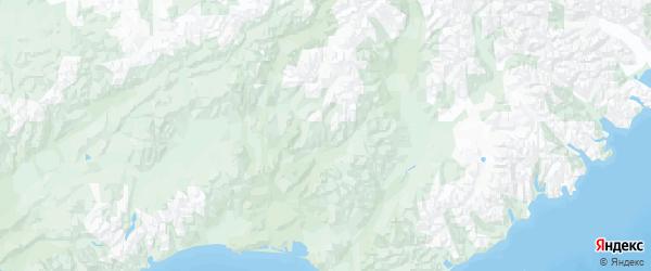 Карта Олюторского района Камчатского края с городами и населенными пунктами