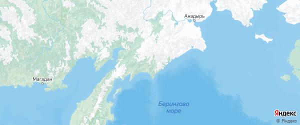 Карта Камчатского края с городами и районами