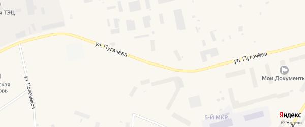 Улица Пугачева на карте Певека с номерами домов